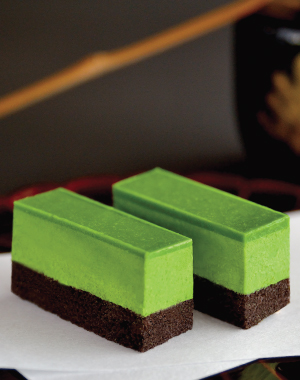 Uji Green Powdered Tea Chocolate Cake
